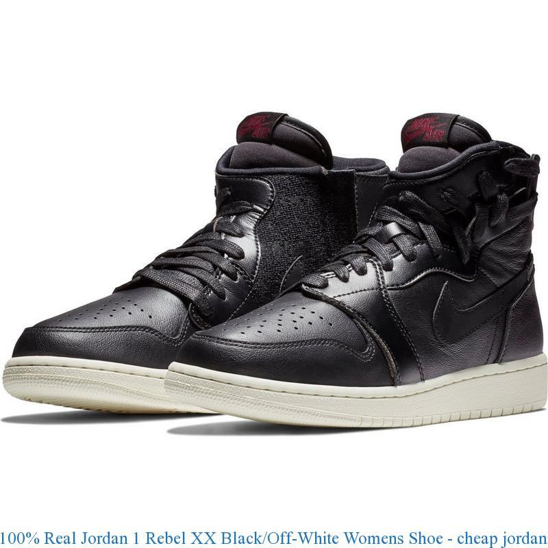 the latest f207b ac7bd 100% Real Jordan 1 Rebel XX Black/Off-White Womens Shoe - cheap jordans 14  - Q0344