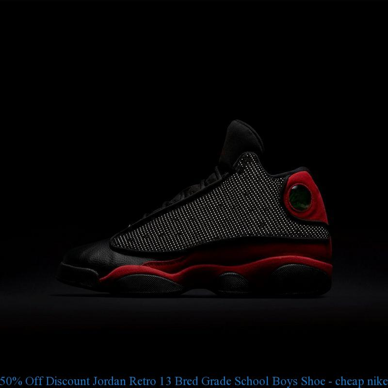 1a90bd83c 50% Off Discount Jordan Retro 13 Bred Grade School Boys Shoe – cheap nike  shoes ...
