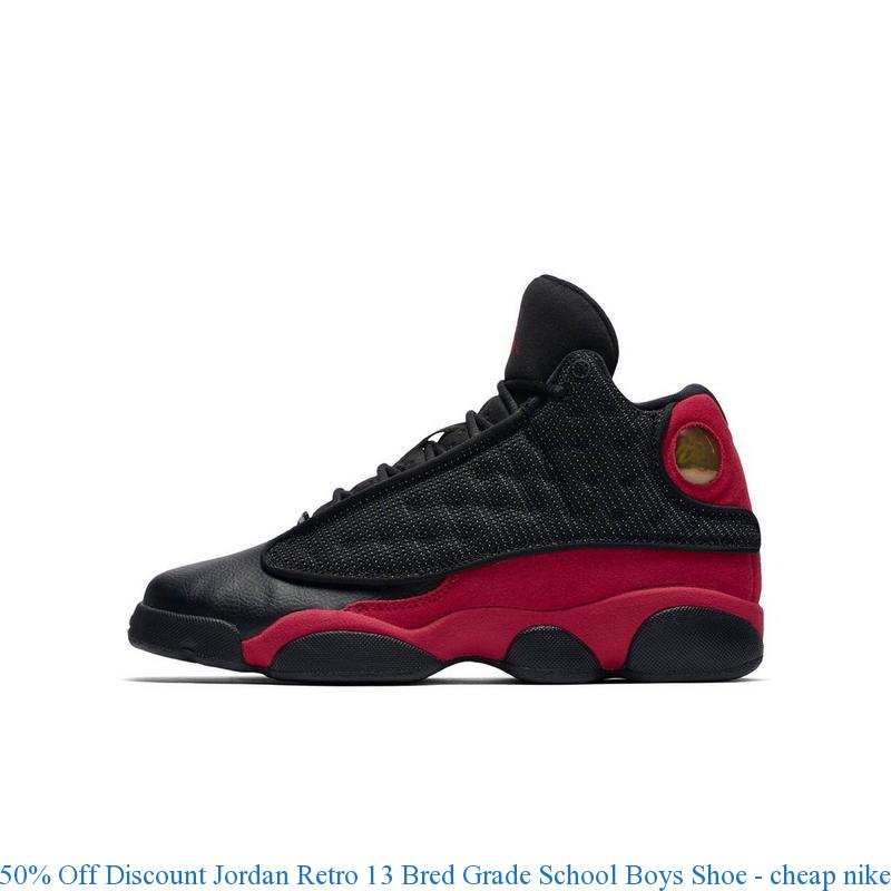 plus récent 281a1 7d711 50% Off Discount Jordan Retro 13 Bred Grade School Boys Shoe - cheap nike  shoes size 7 - R0023B