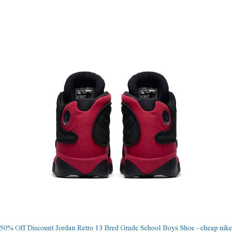 50% Off Discount Jordan Retro 13 Bred Grade School Boys Shoe – cheap nike shoes size 7 ...