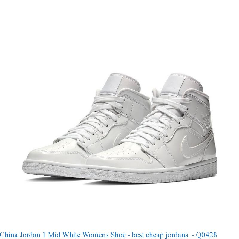 Nouveaux produits 41fef 5c522 China Jordan 1 Mid White Womens Shoe - best cheap jordans - Q0428