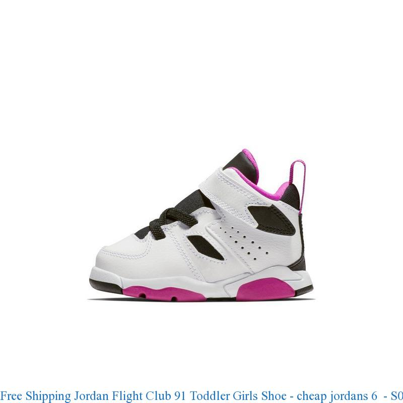 brand new fe545 c1005 Free Shipping Jordan Flight Club 91 Toddler Girls Shoe - cheap jordans 6 -  S0140