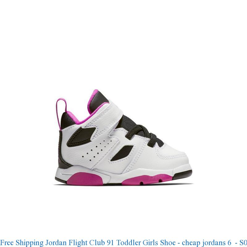 brand new 0252a 4ed7d Free Shipping Jordan Flight Club 91 Toddler Girls Shoe - cheap jordans 6 -  S0140