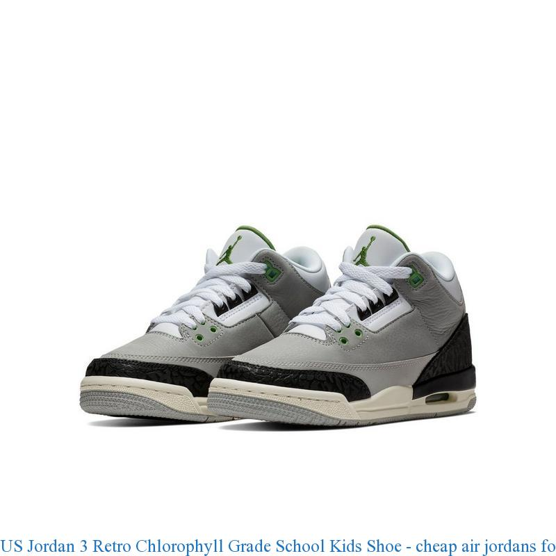 wholesale dealer 16174 73657 US Jordan 3 Retro Chlorophyll Grade School Kids Shoe - cheap air jordans  for sale - R0365
