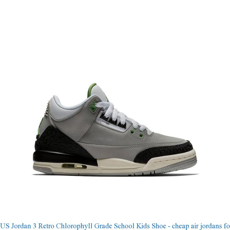 newest 74308 5cfef US Jordan 3 Retro Chlorophyll Grade School Kids Shoe – cheap air jordans  for sale ...